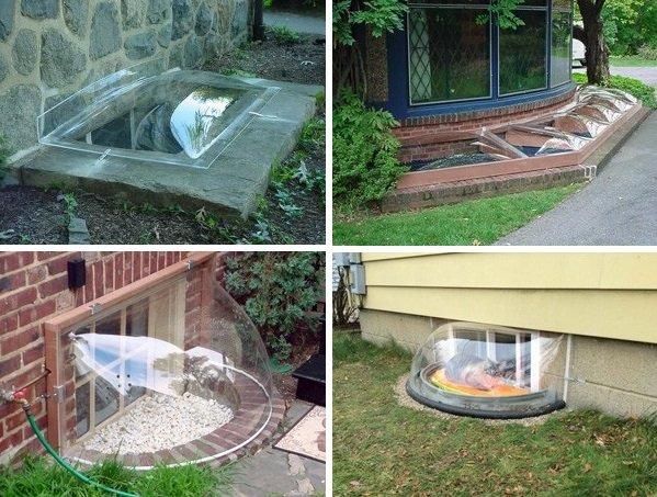 Фасадные окна-пузыри в частном доме