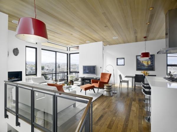 Тренд: Деревянный потолок в интерьере
