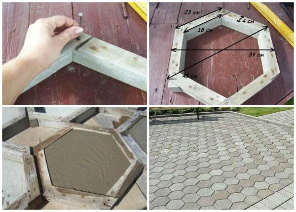 Форма для плитка тротуарная своими руками