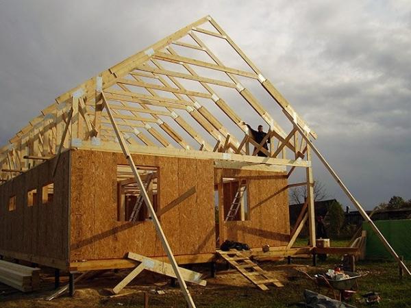 Каркасная методика строительства дачных домиков