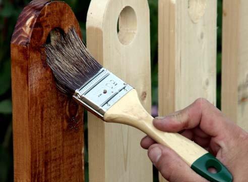 Применение антисептиков для древесины
