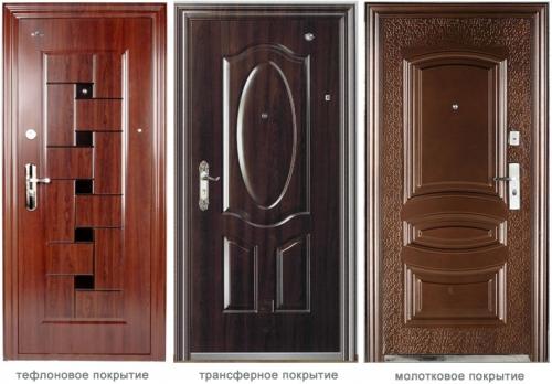 Самые распространённые виды входных дверей