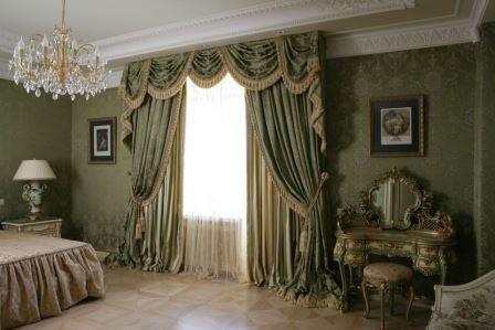Элегантные портьеры с ламбрекеном для гостиных и спален