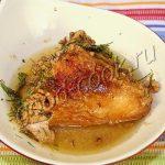 жареный цыплёнок в чесночно-ореховом соусе. Рецепт приготовления