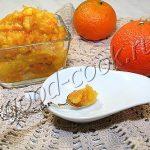 яблочное варенье с мандариновыми корочками, рецепт приготовления