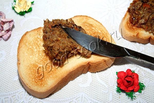 грибной паштет с гречкой. Рецепт приготовления