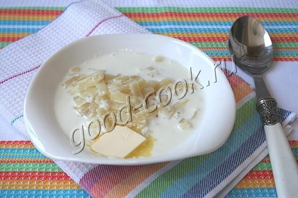 молочный суп с вермишелью. Рецепт приготовления