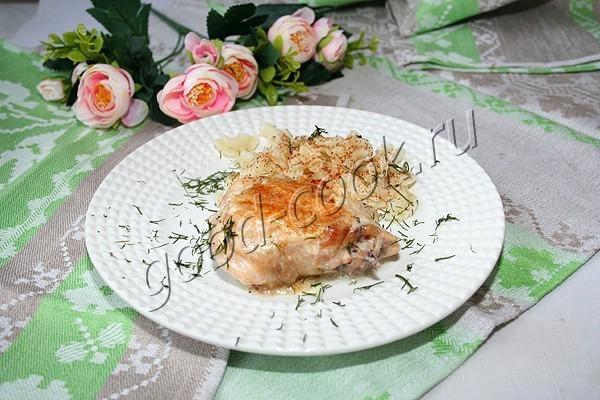 курица в молочном соусе с чесноком. Рецепт приготовления