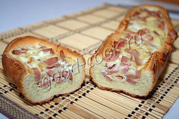 запечённый багет с яйцами и сыром. Рецепт приготовления