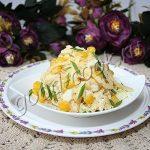 яичный салат с сыром и кукурузой. Рецепт приготовления