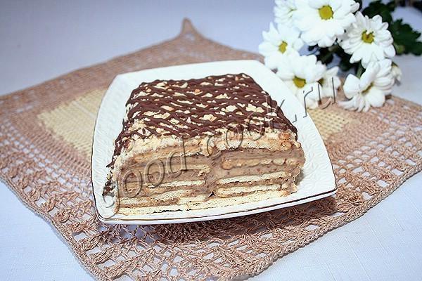 галетный торт с бананами и шоколадом. Рецепт приготовления