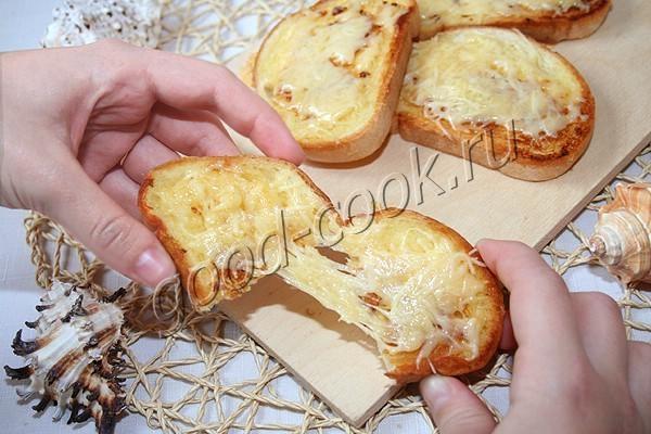 гренки с чесноком и сыром. Рецепт приготовления