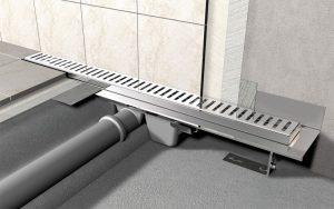 В зависимости от установки трапа и подвода канализации подразделяются: