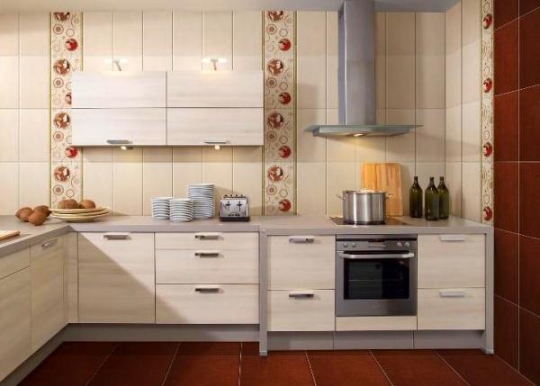 Отделка кухни керамикой