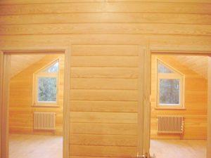 Внутренняя отделка помещения деревянной вагонкой