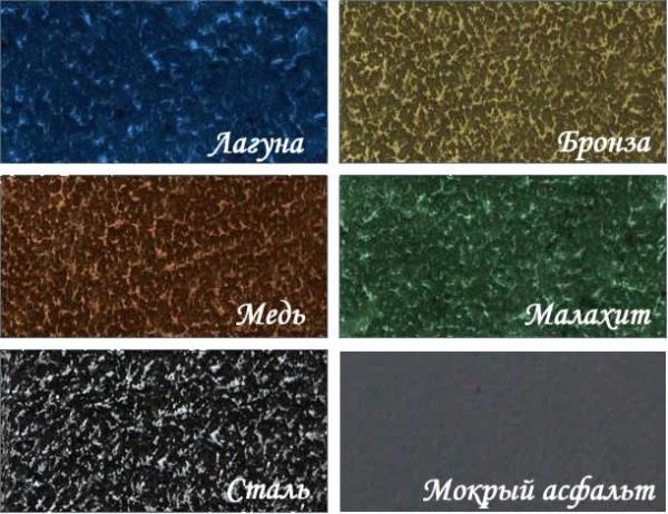 Полимерное покрытие Graphite 45 для металлочерепицы